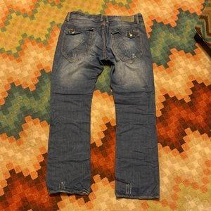 EUC Projek Raw Distressed Jeans 38 32 Straight Leg